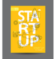 Infographic startup concept vector image