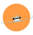 jet plane flat style front vector image vector image
