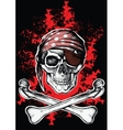 Jolly Roger a pirate symbol with crossed bones vector image vector image