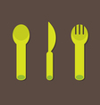 Knife Fork Spoon vector image vector image