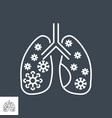 lungs infection related thin line icon vector image vector image