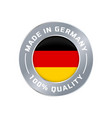 made in germany flag icon of quality label vector image