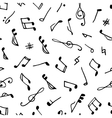 Monochrome seamless music pattern vector image