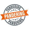 pandering round grunge ribbon stamp vector image vector image