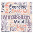 Quick Tips to Boost Your Metabolism 1 text vector image vector image
