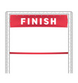 red ribbon in finishing line run vector image