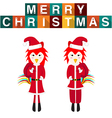 Rooster Santa Claus vector image