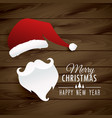 santa claus on wooden background vector image