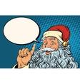 Santa Claus resembles pop art retro vector image vector image