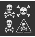set symbols skull vector image vector image
