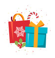 simple christmas design in flat style vector image vector image