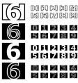 square contour numbers font vector image vector image