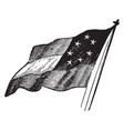 the first flag of the us confederacy vintage vector image vector image