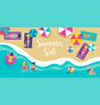top view beach background vector image vector image