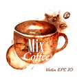 Traces Coffee Cup vector image
