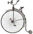 Vintage bicycle with large wheel vector image