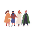 women in fall season outfits flat vector image vector image
