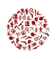 zombie icons in circle vector image vector image