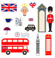 england traditional symbols vector image