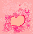 abstract romantic background with hearts vector image vector image