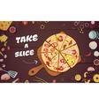 Advertising Of Pizza Cartoon vector image vector image
