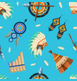 american indians seamless pattern tribal aztec vector image