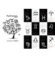 art tree with zodiac signs for your design vector image vector image