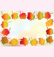 autumn colorful fall leafs greetings card frame vector image vector image