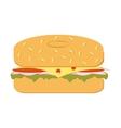 bagel sandwich vector image