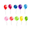 balloons object isolated vector image