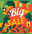 big sale autumn season clearance shopping discount vector image