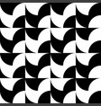 black and white seamless artistic pattern vector image