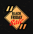 black friday symbol with sale discount option and vector image vector image
