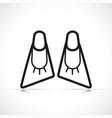 bodyboard flippers symbol icon vector image