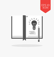 Book with lightbulb note the idea concept icon vector image vector image
