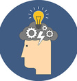 Brainstorming concept Flat design Icon in blue vector image vector image