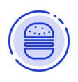 burger fast food fast food blue dotted line line vector image vector image