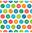 Buttons seamless pattern vector image
