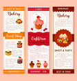 cake bakery and pastry dessert banner template vector image vector image