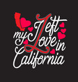 california quotes and slogan good for t-shirt i vector image vector image
