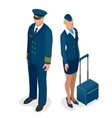 Captain of the aircraft and a beautiful flight vector image vector image