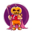 Child in halloween costume vector image vector image