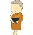 Child monk vector image vector image