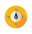 Compass flat icon Meteorology Weather vector image