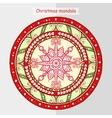 Doodle snowflake on ethnic mandala vector image vector image