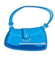 feminine bag blue vector image vector image