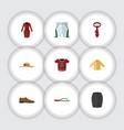 flat icon dress set of beach sandal stylish vector image vector image