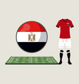 football egypt sport wear vector image vector image