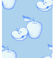 fruit pattern background graphic apple vector image