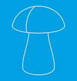 fungus boletus icon outline style vector image vector image